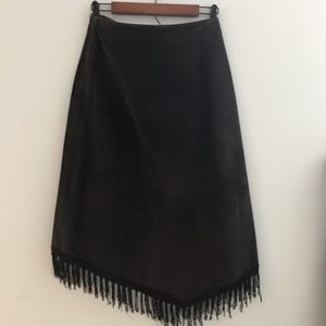 Telluride Clothing Co. Skirts - Telluride Clothing Co. Brown Leather Boot Skirt